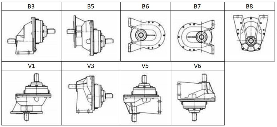 مشخصات گیربکس هلیکال Motovario سری R